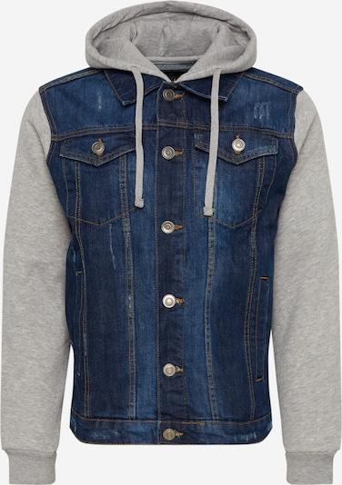 BRAVE SOUL Prechodná bunda 'MJK-HUDSONBLUE' - modrá denim / sivá, Produkt