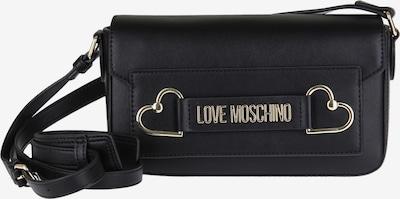 Love Moschino Umhängetasche mit Herzapplikation in schwarz, Produktansicht
