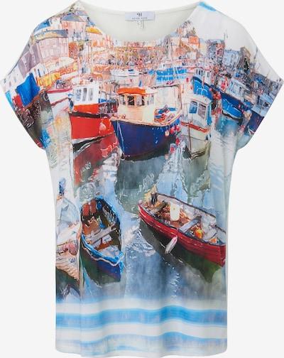 MYBC Rundhals-Shirt mit überschnittener Schulter in mischfarben, Produktansicht