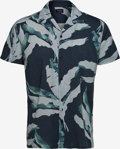 SELECTED HOMME Hemd in grau / petrol / schwarz: Frontalansicht