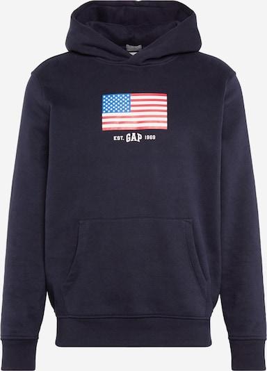 GAP Sweatshirt in de kleur Blauw / Donkerblauw / Lichtrood / Wit, Productweergave