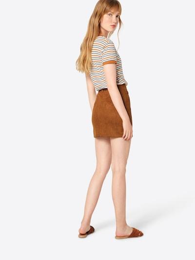 Boohoo Spódnica 'Aalia' w kolorze jasnobrązowym: Widok od tyłu
