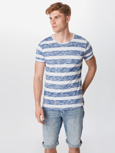 Key Largo Koszulka 'Airflow' w kolorze niebieski / białym: Widok z przodu
