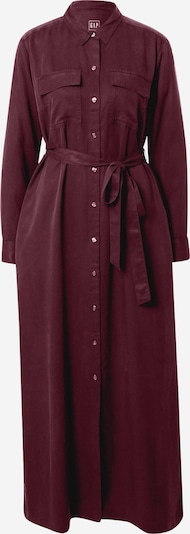 GAP Robe-chemise 'LS Drapey' en rouge foncé, Vue avec produit