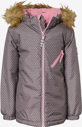 Racoon Outdoor Jacke 'Shannon' in taupe / pink / weiß, Produktansicht
