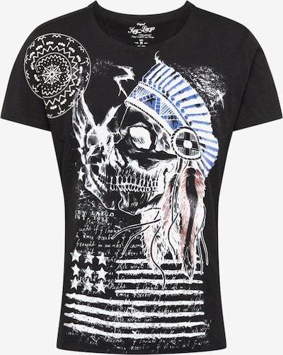 Key Largo T-Shirt 'MT INDIAN SKULL round' en noir: Vue de face