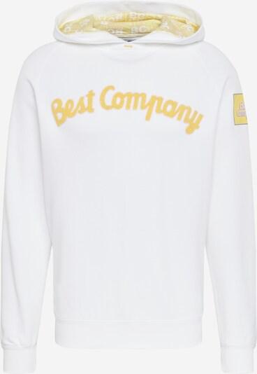 Best Company Sweatshirt 'HOODIE CLASSIC' in gelb / weiß, Produktansicht