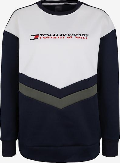 Tommy Sport Sport-Sweatshirt 'BLOCKED TERRY CREW L' in marine / dunkelgrün / weiß, Produktansicht