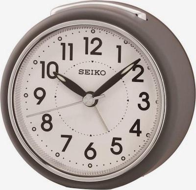SEIKO Quarzwecker 'QHE125N' in beige / mokka, Produktansicht