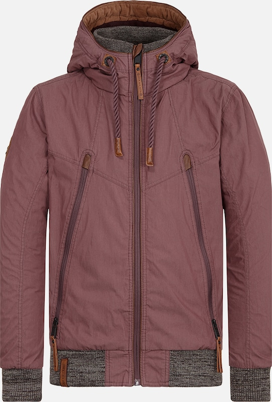 naketano Jacke 'Old Boy' in aubergine, Produktansicht