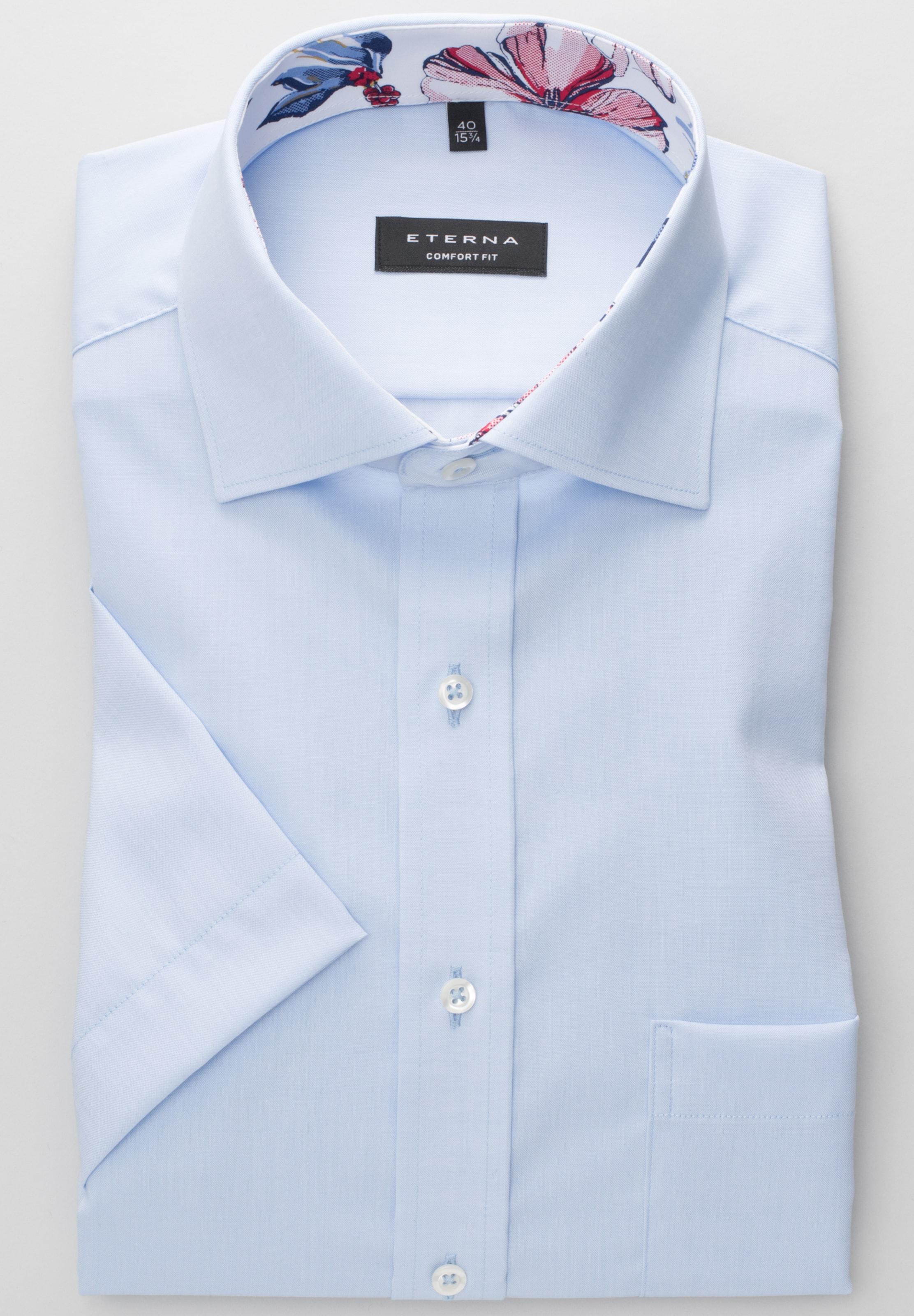 Comfort Fit Hemd In Blau Kurzarm Eterna 0XnOkPw8