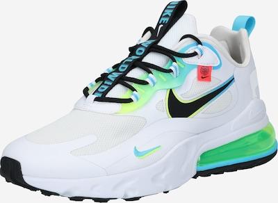 kék / zöld / fehér Nike Sportswear Rövid szárú edzőcipők 'Air Max 270 React SE': Elölnézet