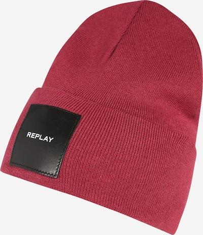 REPLAY Mütze in karminrot / schwarz / weiß, Produktansicht