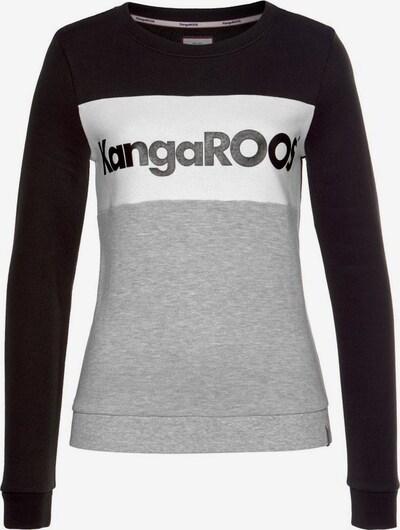 KangaROOS Sweatshirt in graumeliert / schwarz / weiß, Produktansicht