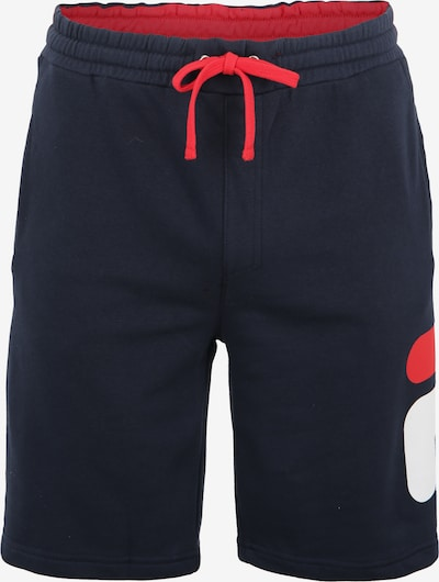 FILA Sportbroek 'Robert' in de kleur Donkerblauw / Rood / Wit, Productweergave