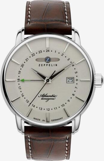 Zeppelin Uhr 'Atlantic' in braun / silber / naturweiß, Produktansicht