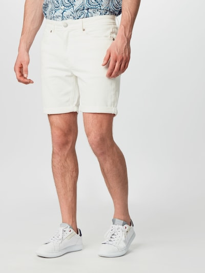 SELECTED HOMME Shorts 'ALEX' in white denim: Frontalansicht