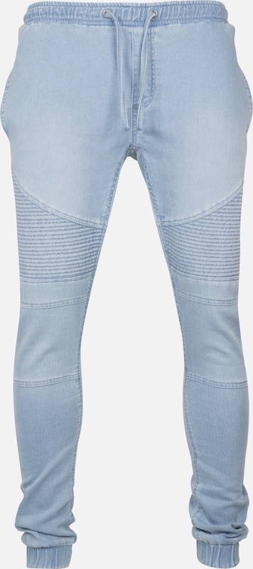 Urban Classics Joggpants 'Biker' in blue denim, Produktansicht