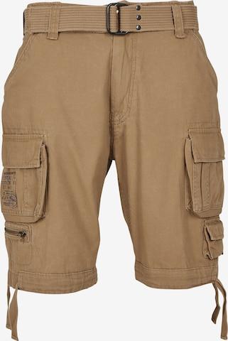 Brandit Shorts 'Savage Vintage' in Braun