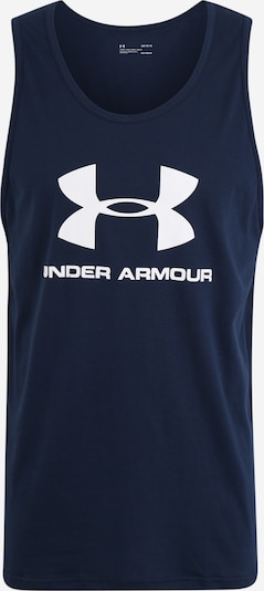 UNDER ARMOUR Functioneel shirt 'SPORTSTYLE LOGO' in de kleur Donkerblauw / Wit, Productweergave