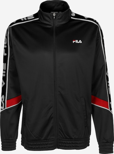 FILA Trainingsjacke ' Ted ' in rot / schwarz / weiß, Produktansicht