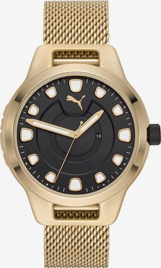 PUMA Uhr 'Reset V1' in gold / schwarz, Produktansicht