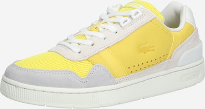 LACOSTE Sneaker 'T-CLIP 120 3 US SFA' in gelb / offwhite, Produktansicht