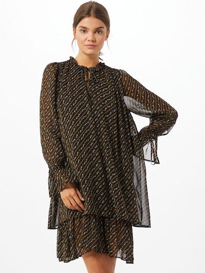mbym Kleid 'Melinna' in braun / schwarz / weiß, Modelansicht