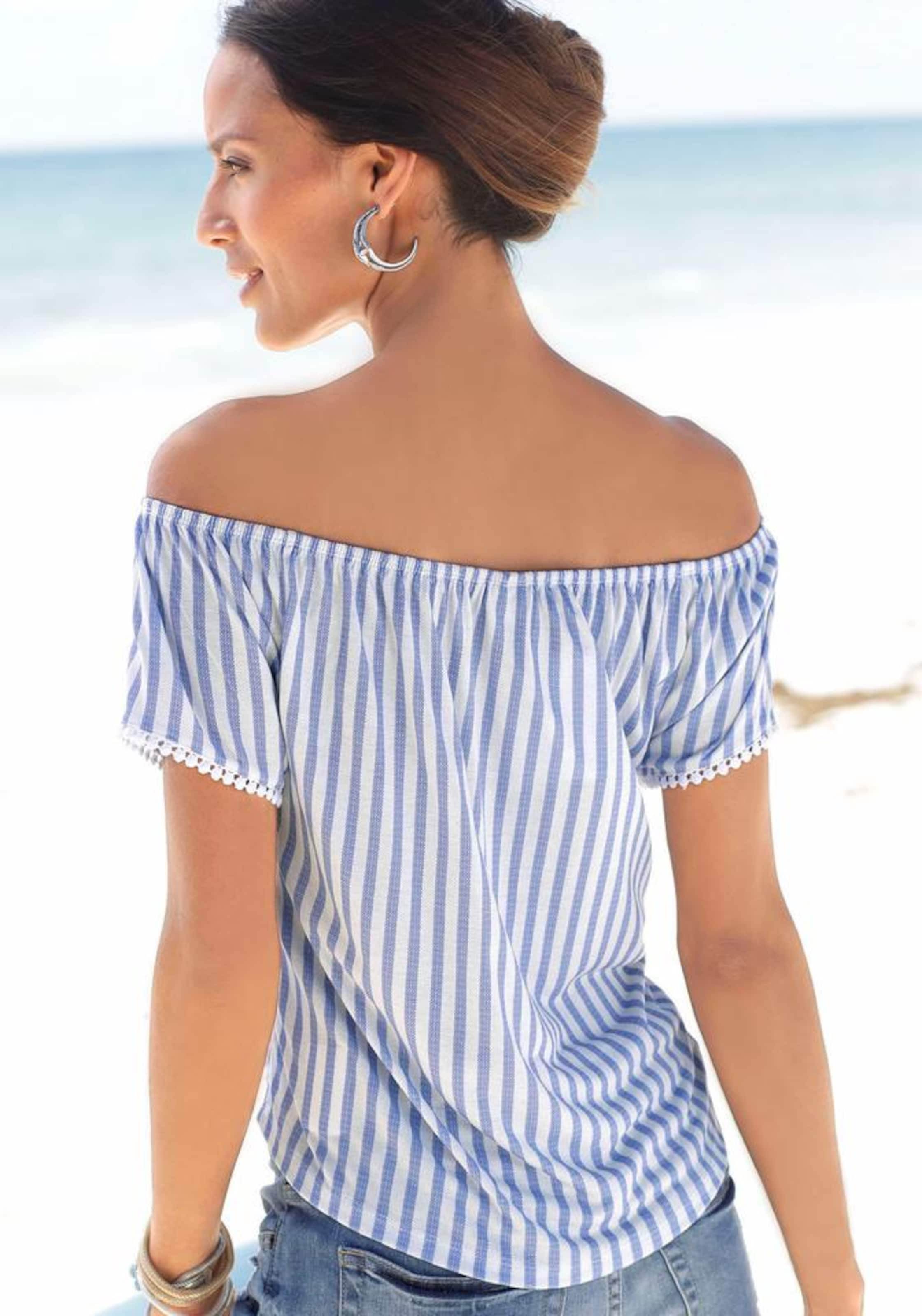 Strandshirt Strandshirt Strandshirt Lascana BlauWeiß In BlauWeiß BlauWeiß Lascana Lascana In In Lascana v8OnwmN0