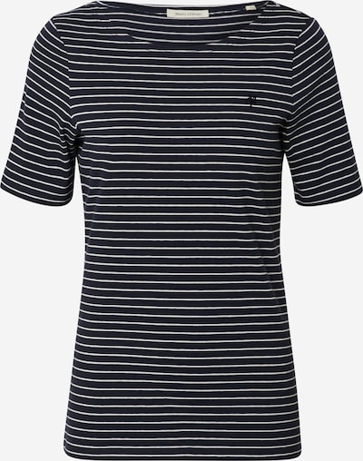 Marc O'Polo T-Shirt in nachtblau / weiß, Produktansicht