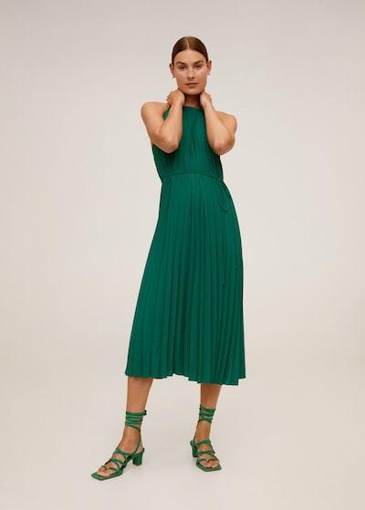 MANGO Kleid 'agosto' in grasgrün, Modelansicht