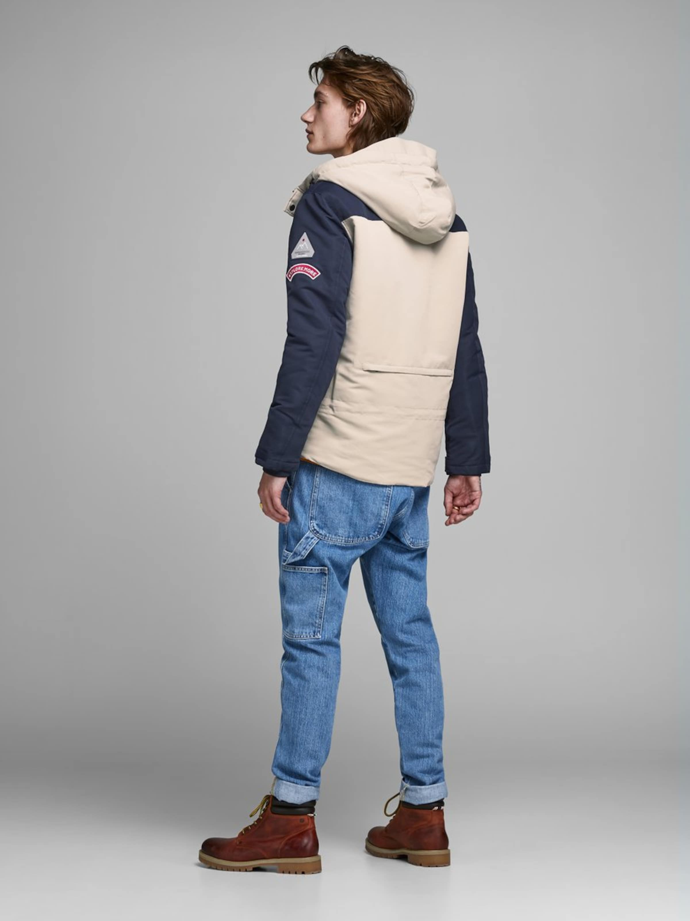 Jones In Jackamp; Jackamp; BeigeBlau Jacke 0OvnmN8w