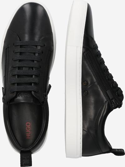 HUGO Sneaker 'Futurism Tenn' in schwarz: Seitenansicht