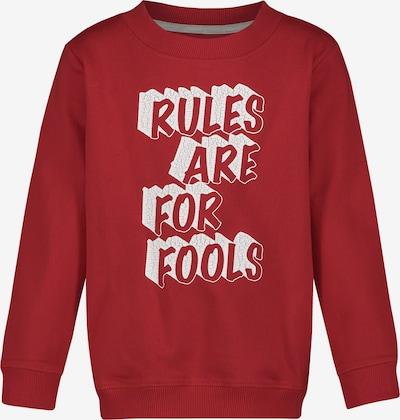 Noppies Sweater 'Boulder' in rot / weiß, Produktansicht