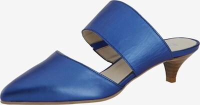 heine Slipper 'Sabot' in camel / blau, Produktansicht