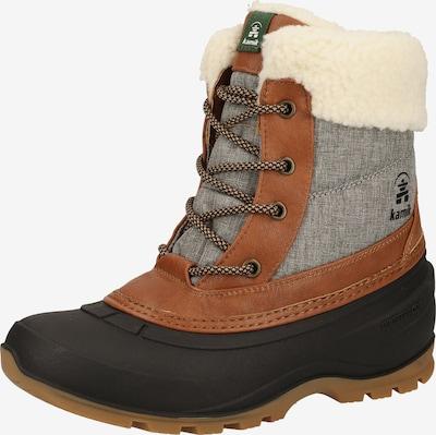 Kamik Boots in de kleur Cognac / Grijs, Productweergave