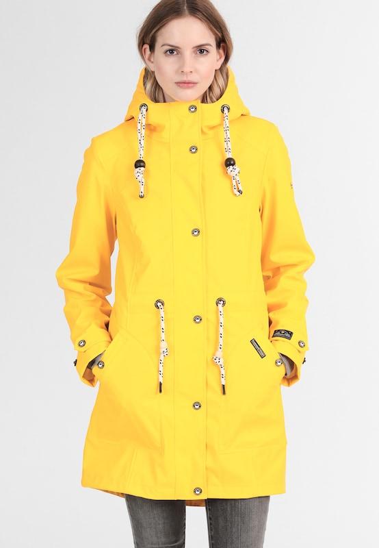 schmuddelwedda schmuddelwedda damen parka mit herausnembarer sweatshirtjacke in gelb about you. Black Bedroom Furniture Sets. Home Design Ideas
