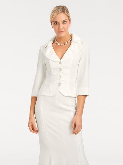 heine Blazer en blanco lana, Vista del modelo