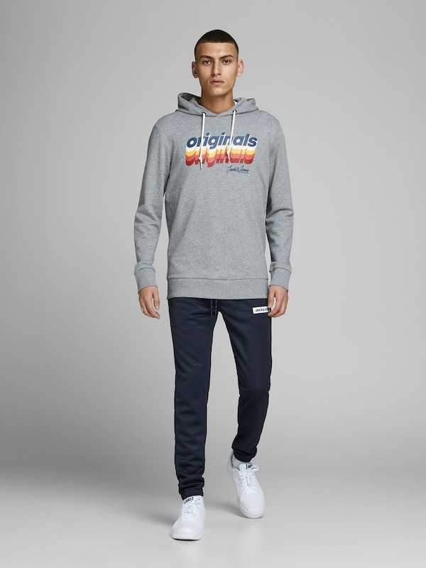 JACK & JONES Sweathose 'Will Tiger' in dunkelblau: Frontalansicht