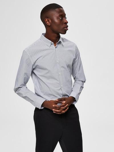 SELECTED HOMME Overhemd in de kleur Zwart / Wit: Vooraanzicht