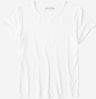 Tricou Abercrombie & Fitch pe alb, Vizualizare produs