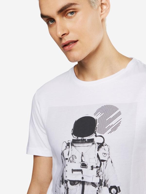 TOM TAILOR DENIM T-Shirt 'crewneck with photoprint'