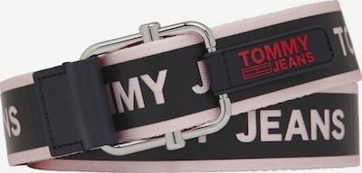 Tommy Jeans Gürtel in pastellpink / rot / schwarz, Produktansicht