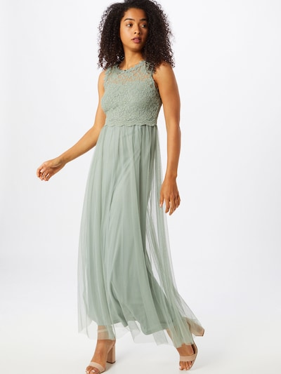 VILA Robe de soirée 'LYNNEA' en vert pastel, Vue avec modèle