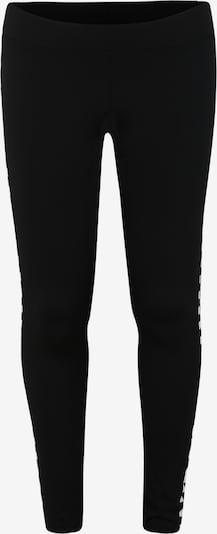Urban Classics Curvy Leggings 'Ladies Side Check Leggings' en noir / blanc: Vue de face