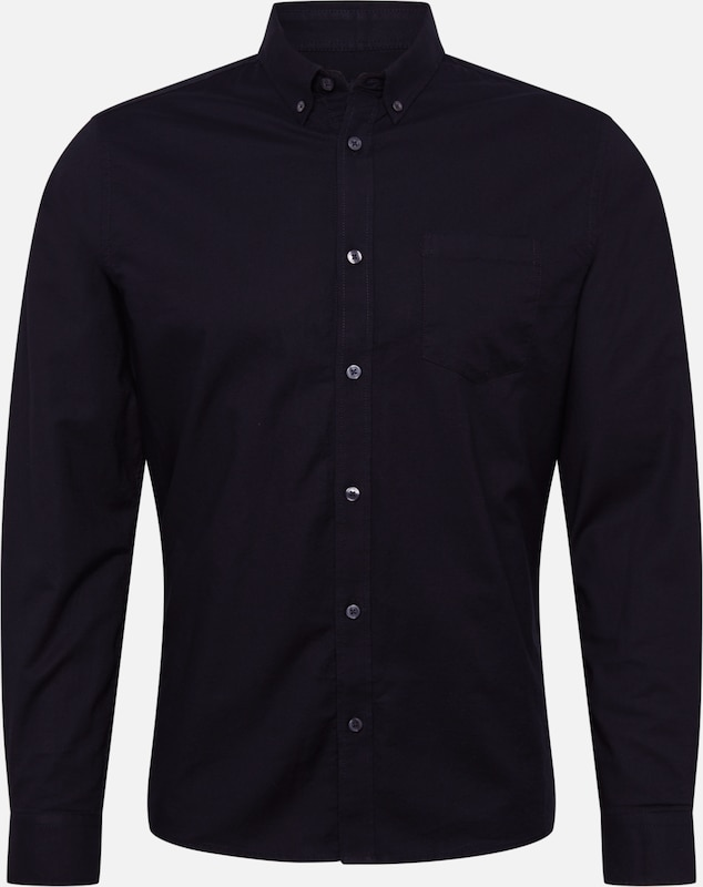 BURTON MENSWEAR LONDON Hemd 'OXFORD' in schwarz, Produktansicht
