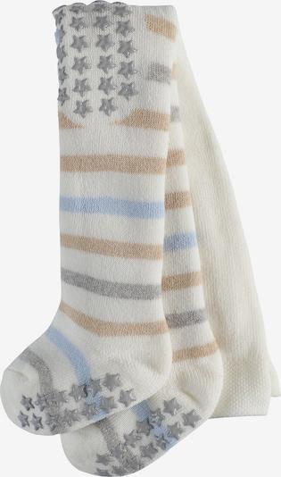 FALKE Krabbelstrumpfhosen in hellbeige / grau / weiß, Produktansicht