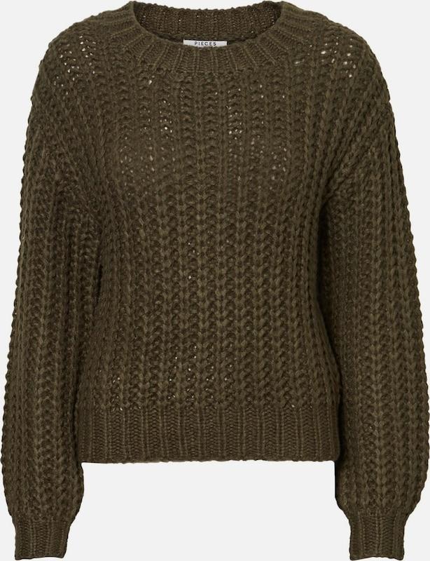 PIECES Pullover in khaki  Mode neue Kleidung