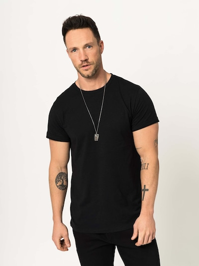 DAN FOX APPAREL Shirt 'Piet' in schwarz, Modelansicht