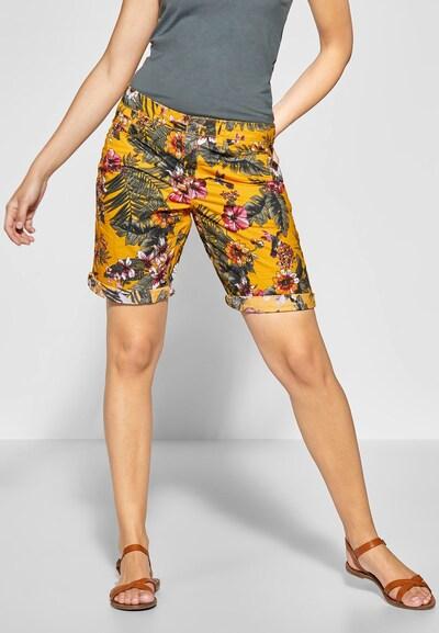 STREET ONE Bermuda 'Jane' in safran / mischfarben, Modelansicht